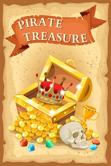 Tesoro dei pirati illustrazione