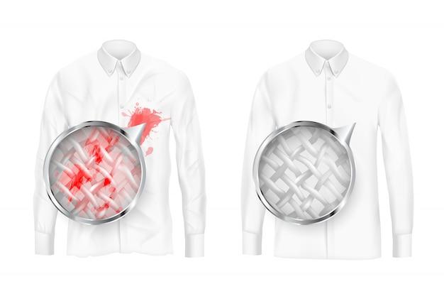 Tessuti di abbigliamento concetto vettoriale di pulizia profonda