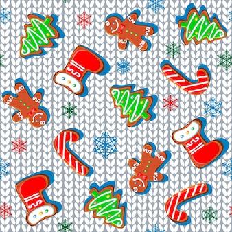 Tessuto a maglia con pan di zenzero