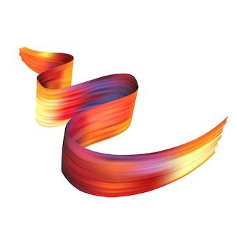 Tessuto di seta luminoso volante realistico 3d isolato su fondo bianco. scorrevole raso o velluto