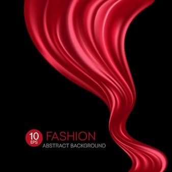 Tessuto di seta rosso volante. fashibackground