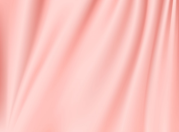 Tessuto di stoffa in oro rosa satinato isolato su sfondi di concept design