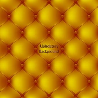 Tessuto di tappezzeria in pelle dorata