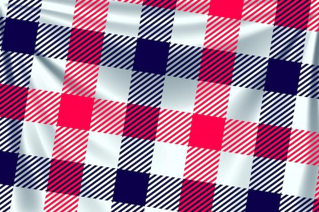 Tessuto quadrato bicolore