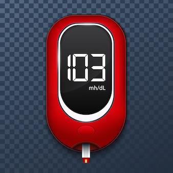Test del glucometro, diabete glucometro.