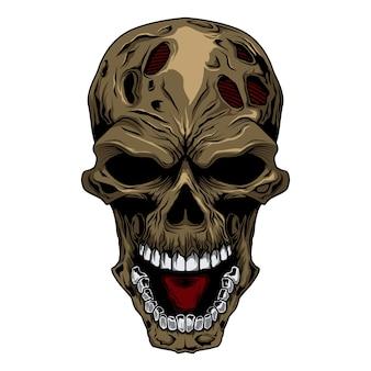 Testa cranio arrabbiato