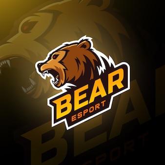 Testa d'orso gaming logo esport