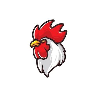 Testa dell'illustrazione del gallo