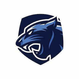 Testa di animale - pantera - logo di vettore / mascotte dell'illustrazione dell'icona