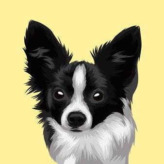 Testa di cane realistico illustrazione vettoriale