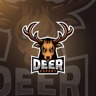 Testa di cervo gaming logo esport