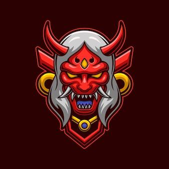 Testa di demone con il concetto di maschera