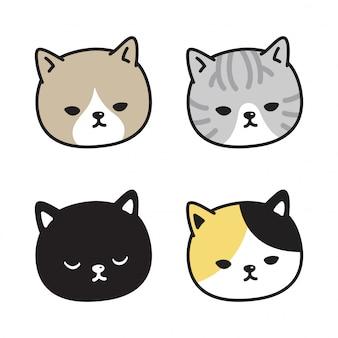 Testa di gatto gattino cartoon
