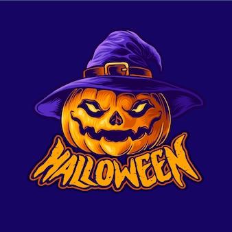 Testa di lanterna jack o personaggio di halloween