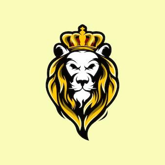 Testa di leone con corona