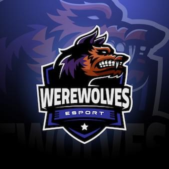 Testa di lupo mannaro logo esport