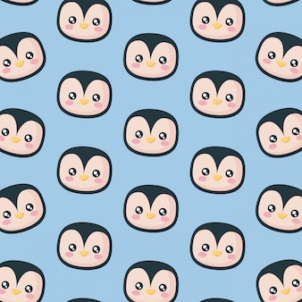 Testa di modello icona pinguino