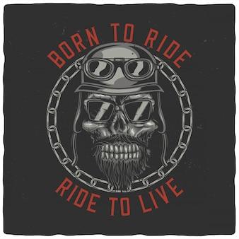 Testa di motociclista