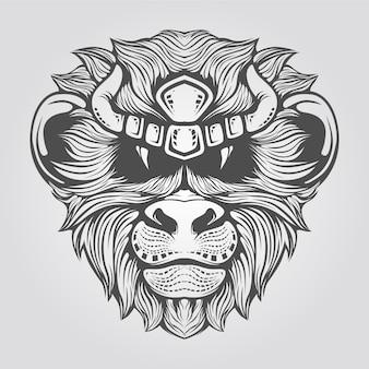 Testa di scimmia disegnata a mano
