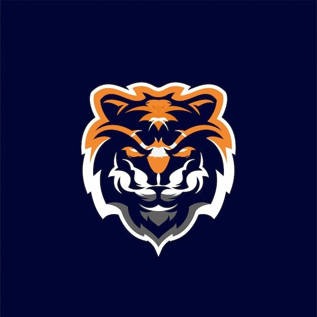 Testa di tigre logo design illustrazione