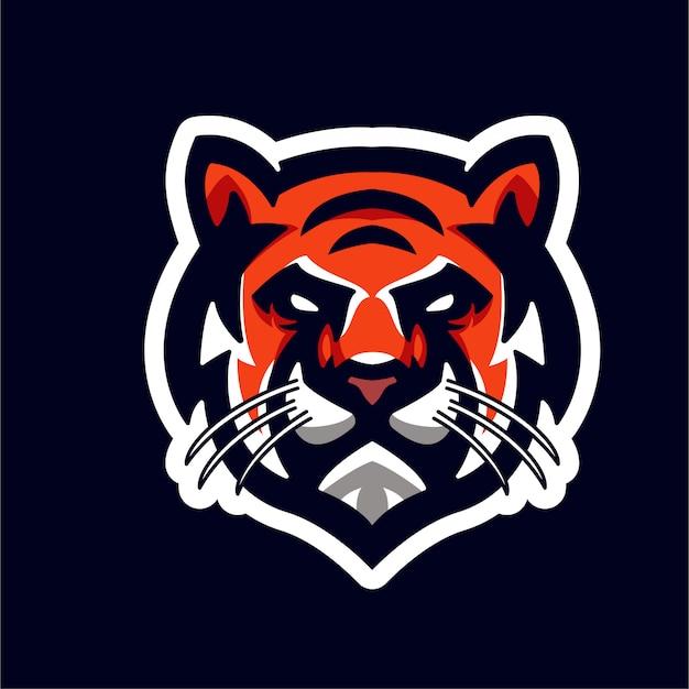 Testa di tigre mascotte per logo