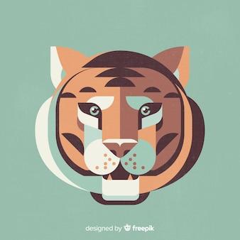 Testa di tigre piatta