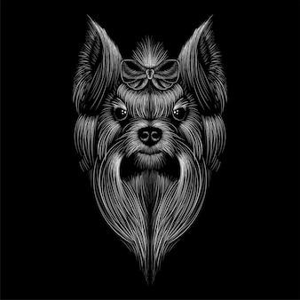 Testa di yorkshire terrier