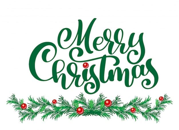 Testi merry christmas scritte a mano scritte in calligrafia.