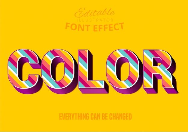 Testo a colori, stile di testo modificabile