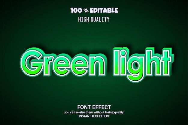 Testo a luce verde, effetto carattere modificabile
