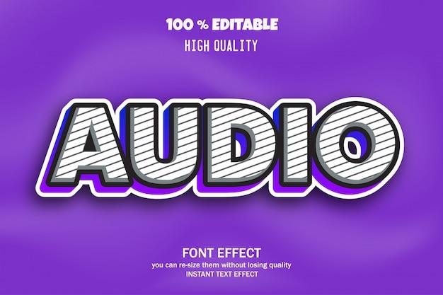 Testo audio, effetto carattere modificabile
