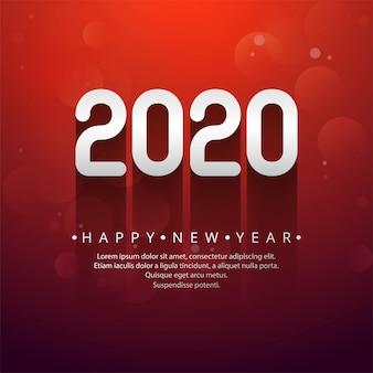 Testo creativo di celebrazione del nuovo anno 2020