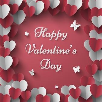 Testo del giorno di san valentino con farfalla