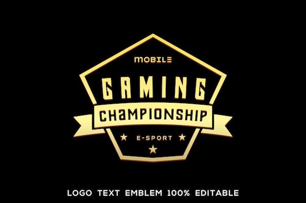 Testo del logo di gioco