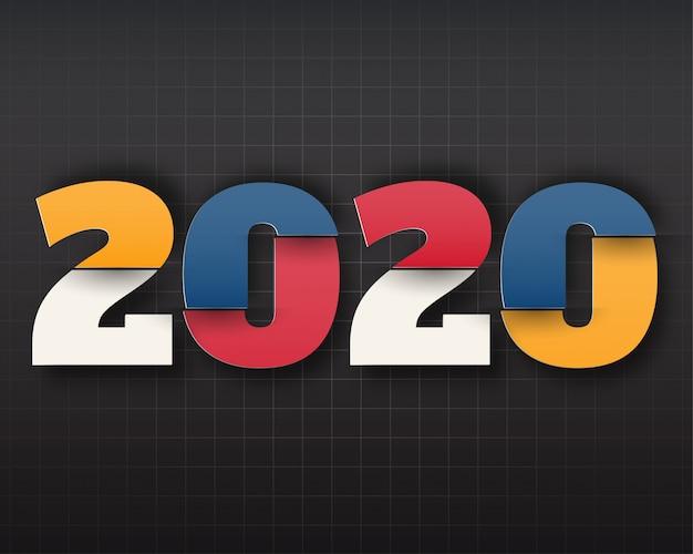 Testo del logo happy new year 2020