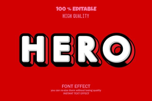 Testo dell'eroe, effetto carattere