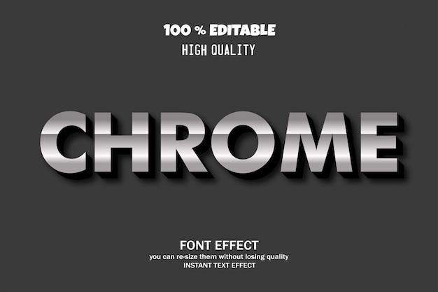 Testo di chrome, effetto carattere modificabile