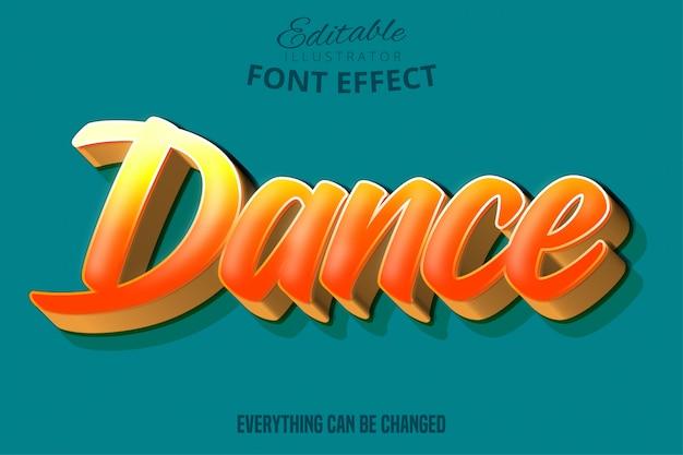 Testo di danza, stile di testo modificabile
