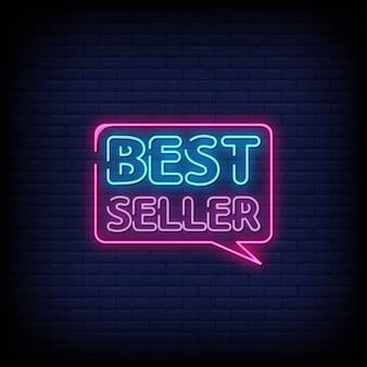 Testo di stile delle insegne al neon del best-seller