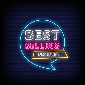 Testo di stile delle insegne al neon del prodotto più venduto