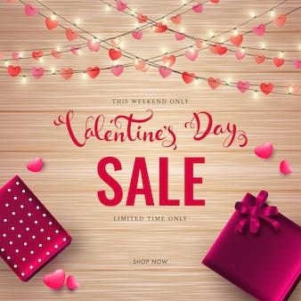 Testo di vendita di san valentino