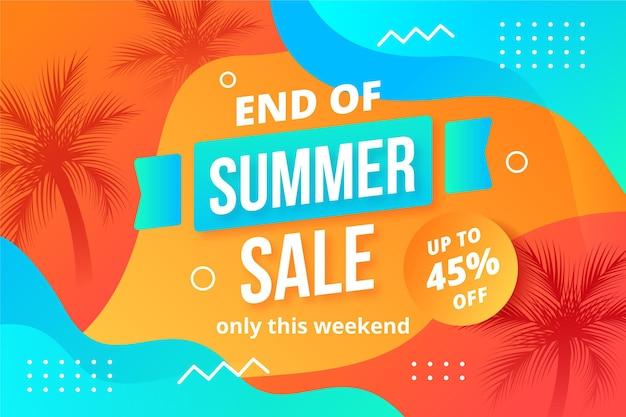 Testo di vendita estiva di fine stagione