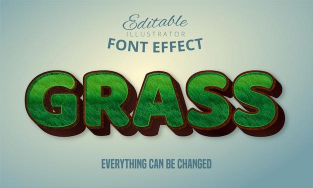 Testo erba, effetto carattere