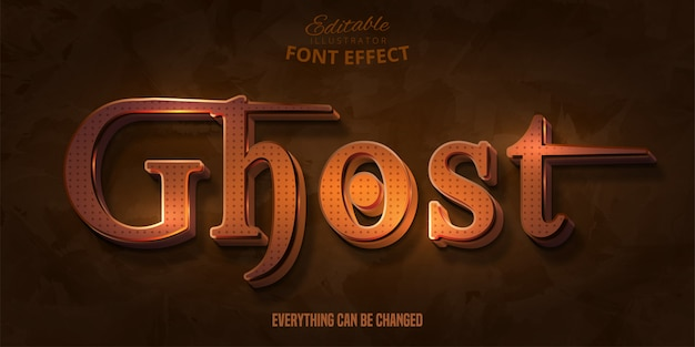Testo fantasma, effetto font modificabile 3d