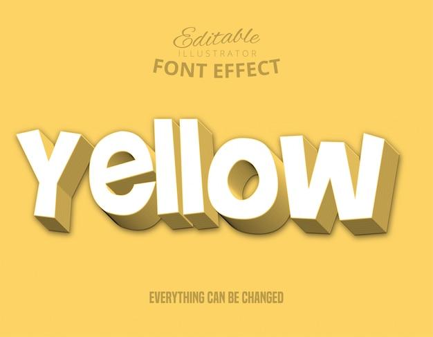 Testo giallo, stile di testo modificabile