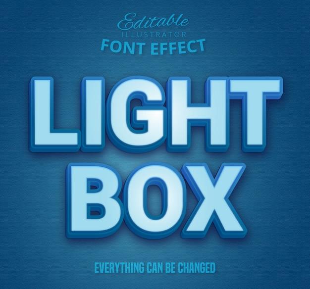 Testo light box, effetto carattere