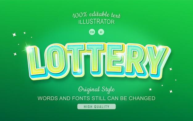Testo modificabile verde della lotteria con gradiente.