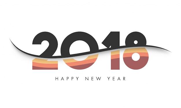 Testo ondulato 2018 per le celebrazioni del buon anno