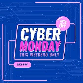Testo promozionale piatto cyber lunedì