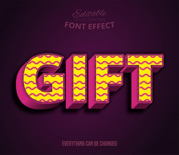 Testo regalo, effetto testo modificabile